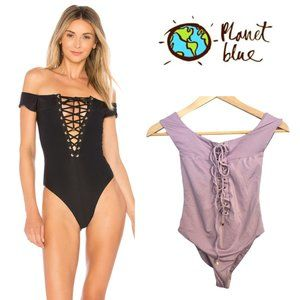 Blue Life Off the Shoulder One Piece in Lilac